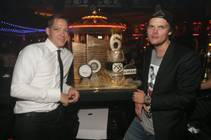 XS' sixth anniversary with DJ Avicii, right, with XS Managing Partner Jesse Waits, on Saturday, March 28, 2015, at Encore.