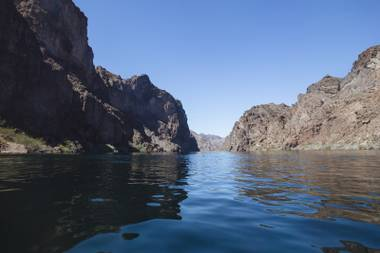 Kayaking on the Colorado River on March 20, 2015.