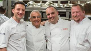 Andre Rochat's 35th anniversary dinner Sunday, March 29, 2015, at Andre's in Monte Carlo.