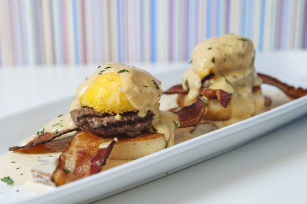 Wagyu Eggs Benedict served at Serendipity 3 on March 26, 2015.