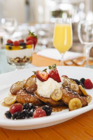Croissant French Toast served at Veranda in the Four Seasons on March 30, 2015.