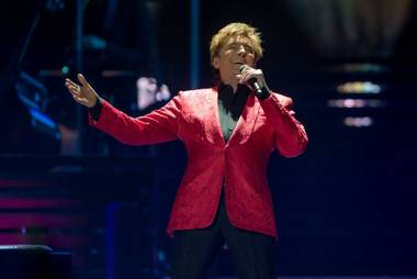 Barry Manilow performs at MGM Grand Garden Arena on Friday, April 10, 2015, in Las Vegas.