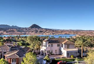 In a far away land known as Lake Las Vegas sits 16 Via Potenza Court, a three-bedroom, seven-bathroom mansion.