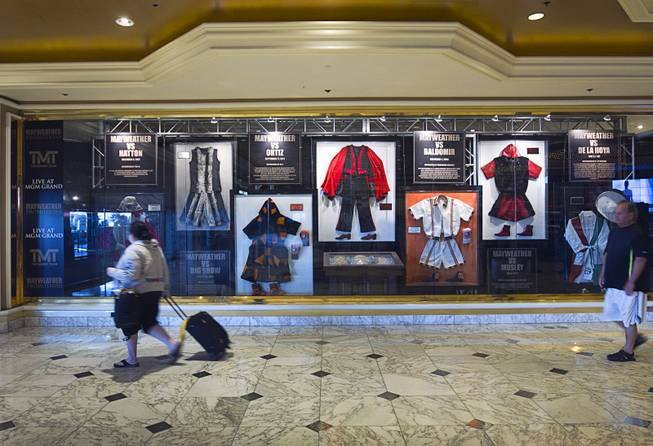 Boxing Merchandise on Display at MGM