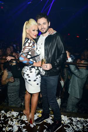 Christina Aguilera at Hakkasan