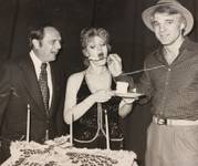 Bob Newhart, Bernadette Peters and Steve Martin at the Riviera in Las Vegas in 1978.