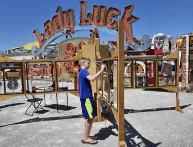 Artist residency begins at the Neon Museum.