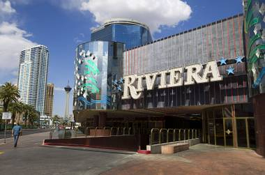 An exterior view of the Riviera on Wednesday, April 22, 2015. The casino, which opened April 20, 1955, closes May 4. The Las Vegas Convention and Visitors Authority purchased the property to make way for an expansion of the Las Vegas Convention Center.