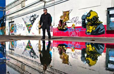 Ed Fuentes about the public murals in the Art's District on Saturday, April 25, 2015.