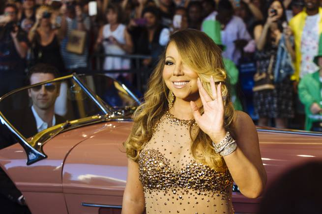 Mariah Carey arrives at Caesars Palace on Monday, April 27, 2015, in Las Vegas.