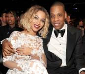 Beyonce and Jay Z at the 2014 Grammy Awards at Staples Center in Los Angeles.