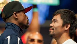 Mayweather-Pacquiao Weigh-In at MGM Grand