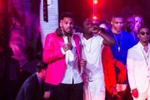 The post-fight party headlined by Chris Brown and featuring 50 Cent, Busta Rhymes, Akon, Tyga, Too Short and more at Drai's Live on Saturday, May 2, 2015, atop the Cromwell.