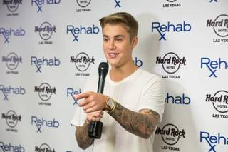 Justin Bieber hosts and performs at Rehab on Saturday, May 2, 2015, in the Hard Rock Hotel.