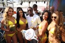 P. Diddy and Sports Illustrated swimsuit models host Saturday, May 2, 2015, at Foxtail Pool Club in SLS Las Vegas.