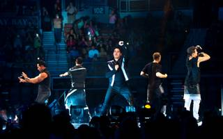 "New Kids on the Block headline the ""The Main Event"" tour kickoff Friday, May 1, 2015, at Mandalay Bay Events Center."