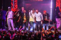 The pre-fight party headlined by 50 Cent and featuring Busta Rhymes and Tyga at Drai's Live on Friday, May 1, 2015, atop the Cromwell.