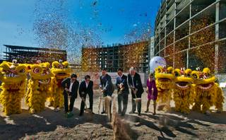 The Malaysia-based Genting Group breaks ground on the $4 billion Resorts World Las Vegas joined by Gov. Brian Sandoval and Clark County officials on Tuesday, May 5, 2015.