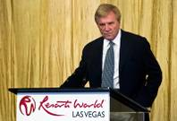 Sig Rogich welcomes guests as the Malaysia-based Genting Group prepares to break ground on the $4 billion Resorts World Las Vegas property on Tuesday, May 5, 2015.
