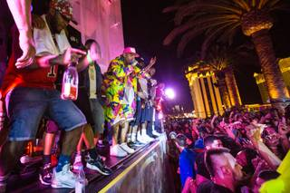 Chris Brown celebrates his 26th birthday at Drai's on Tuesday, May 5, 2015, atop the Cromwell. It also was Cinco de Mayo and Drai's Yacht Club industry party.