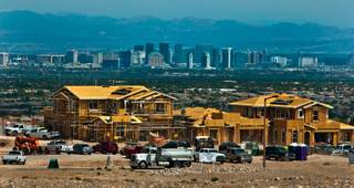 Land prices are rising in Summerlin like this area off of S. Fox Hill Drive, making them far more expensive that land around the valley on Thursday, May 14, 2015.  L.E. Baskow