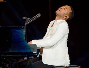 2015 Rock in Rio USA Day 4 featured Bruno Mars, John Legend, pictured here, Empire of the Sun, Joss Stone and more Saturday, May 16, 2015, at MGM Resorts Festival Grounds.