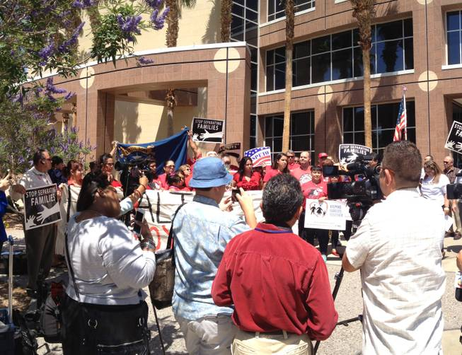 Immigration Lawsuit Protest