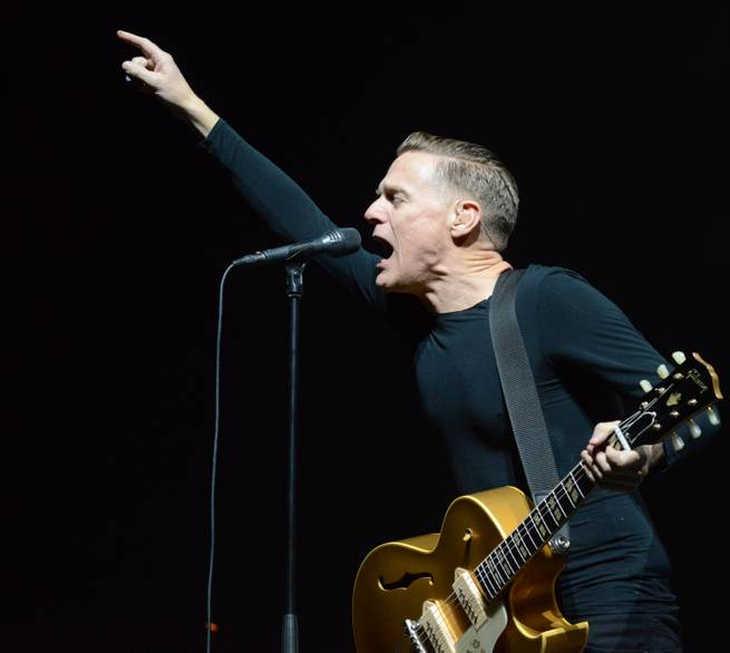 "Bryan Adams performs during his ""30th Anniversary Reckless Tour"" stop Saturday, May 16, 2015, at Mandalay Bay Events Center."