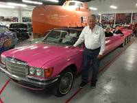 Jay Ohrberg and his famous pink limousine.