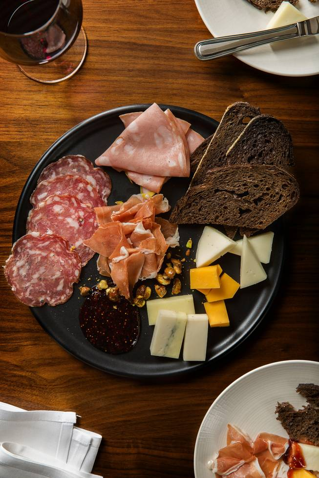 Charcuterie and cheese at Hexx Kitchen + Bar at Paris Las Vegas.