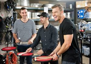Joe Jonas, Alan Ritchson at BMG