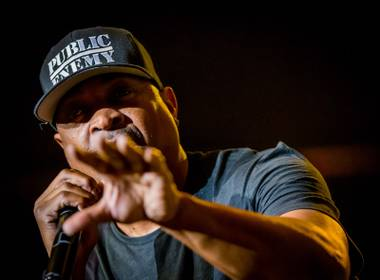 Public Enemy performs at the Joint on Saturday, June 6, 2015, in the Hard Rock Hotel Las Vegas.