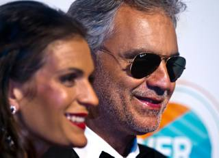 "Honorees Veronica Bocelli and Andrea Bocelli attend the 19th annual Keep Memory Alive ""Power of Love"" gala for the Cleveland Clinic Lou Ruvo Center on Saturday, June 13, 2015, at MGM Grand Garden Arena."