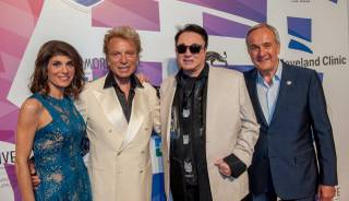 "Camille Ruvo, Siegfried Fischbacher, Roy Horn and Larry Ruvo attend the 2015 Keep Memory Alive ""Power of Love"" gala Saturday, June 13, 2015, at MGM Grand Garden Arena."