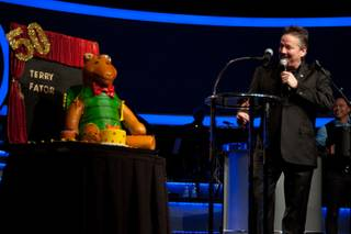 Mirage headliner Terry Fator celebrates his 50th birthday on Wednesday, June 10, 2015, at the Mirage.