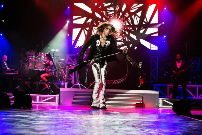"Chris Van Dahl as Steven Tyler in ""Legends in Concert"" at Flamingo."