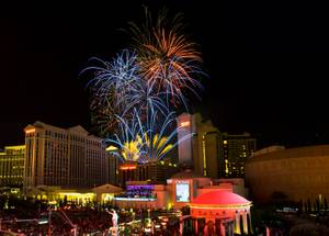 Fireworks From the Linq