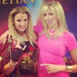 "Becca Kotte of ""Rock of Ages"" at the Venetian with singer Debbie Gibson."