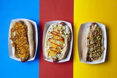 A tube-shaped feast awaits at Street Dogs.