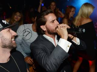 Scott Disick hosts at 1 OAK on Friday, July 24, 2015, in the Mirage.