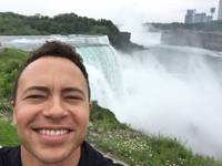 Guest columnist DJ Ben Harris at Niagara Falls.