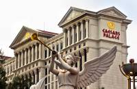 One of the many sculptured angels about the exterior of Caesars Palace on Wednesday, August 5, 2015.