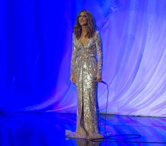 Celine Dion at the Colosseum on Thursday, Aug. 27, 2015, in Caesars Palace.