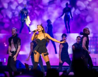 Ariana Grande performs at Mandalay Bay Events Center on Saturday, Aug. 29, 2015, in Las Vegas.