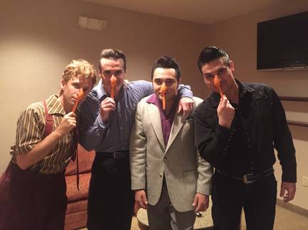 """Million Dollar Quartet"" at Harrah's for Three Square Food Bank #Spoontember and Hunger Action Month."