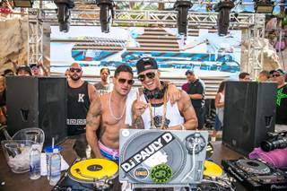 DJ Pauly D is joined by Ronnie Ortiz-Magro at Rehab on Saturday, Sept. 5, 2015, in the Hard Rock Hotel.