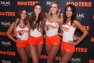 The grand opening of Hooters on Monday, Sept. 14, 2015, at the Palms.