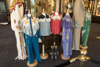 A look at some items from Wayne Newton's collection in Las Vegas, Nev. on September 8. 2015.