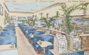 A Corey's Cafe postcard from Bob Stoldal's collection on September 19, 2015.