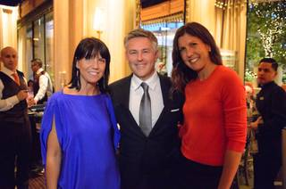 "A.J. Lambert, Charles Pignone and Amanda Erlinger attend the ""Sinatra 100"" book-release dinner at Sinatra on Wednesday, Sept. 23, 2015, in Encore. Pignone wrote the new book, and Lambert and Erlinger are granddaughters of Frank Sinatra."